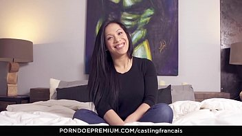 CASTING FRANCAIS - Asian newbie tests out skills in hardcore audition fuck